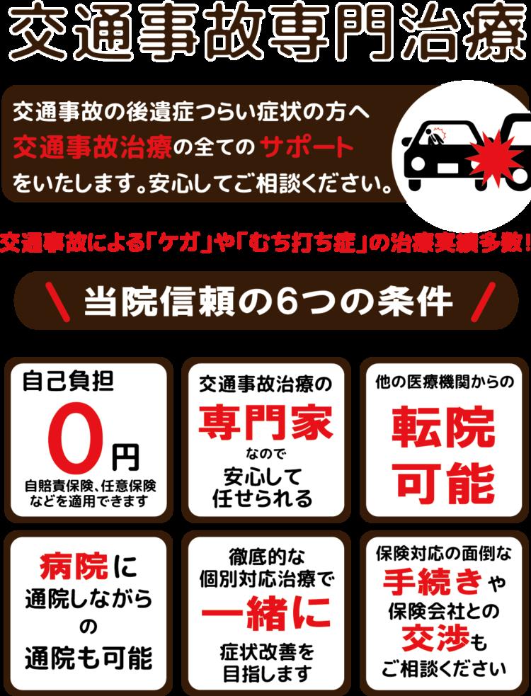 国立市 交通事故治療